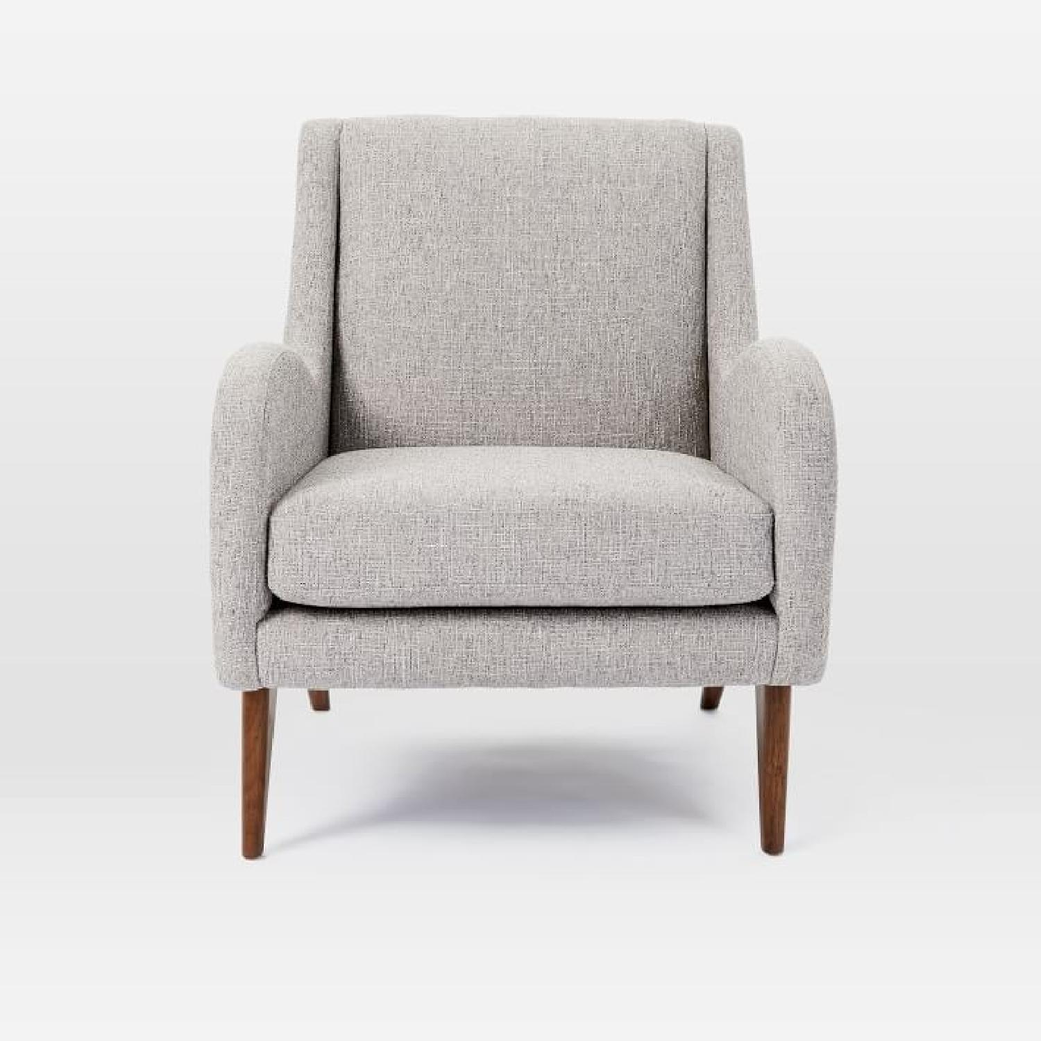 West Elm Sebastian Chair in Feather Gray - image-1