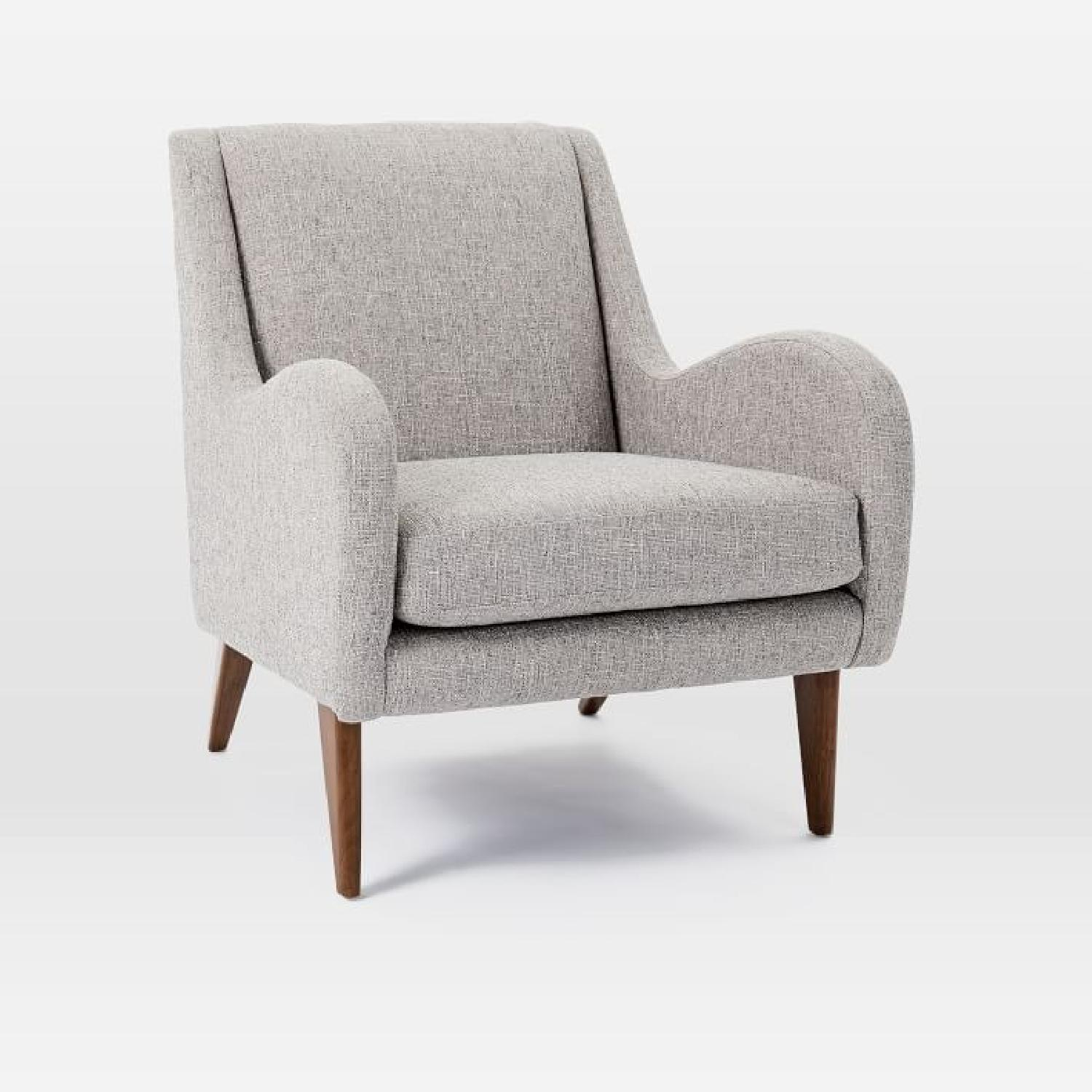 West Elm Sebastian Chair in Feather Gray - image-2