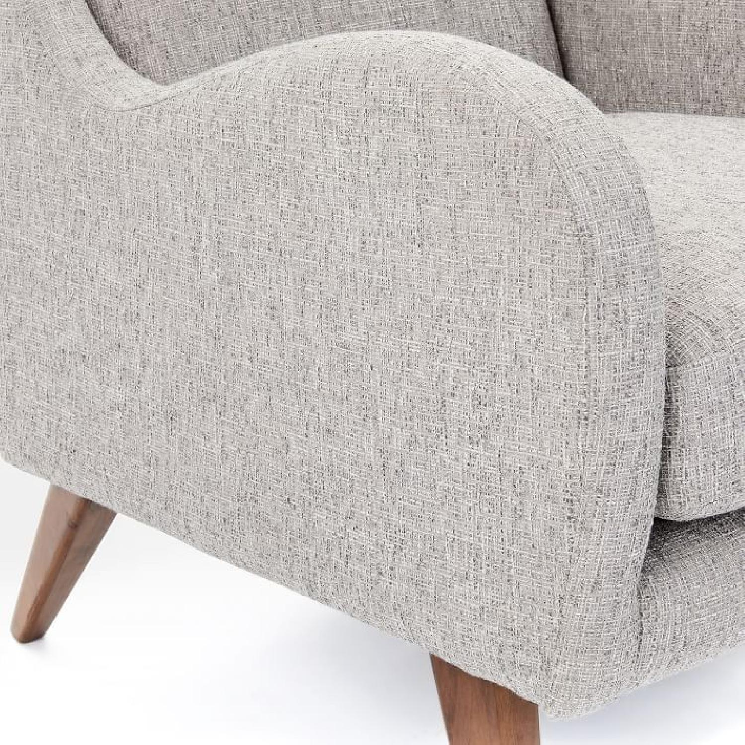 West Elm Sebastian Chair in Feather Gray - image-3
