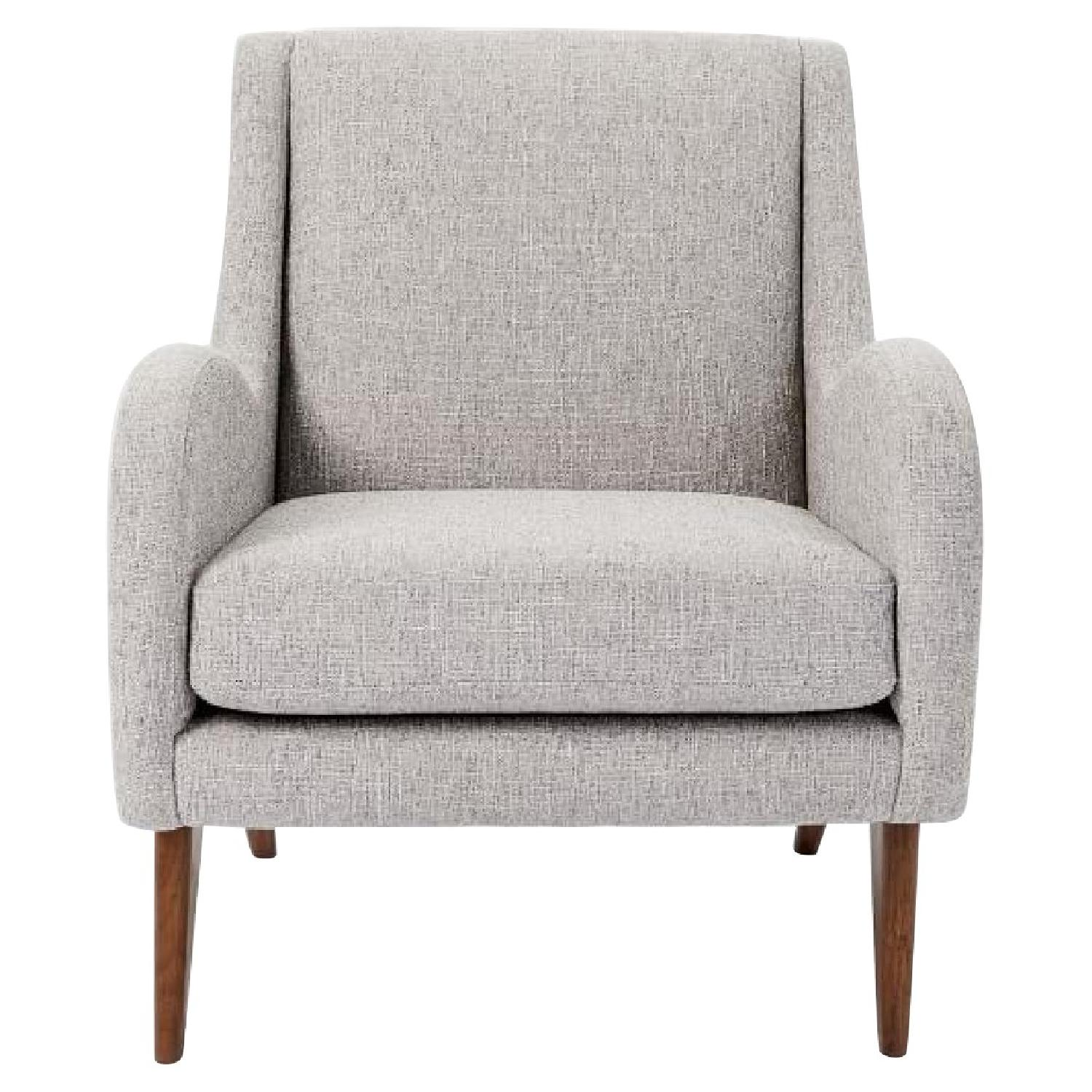 West Elm Sebastian Chair in Feather Gray - image-0