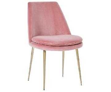 West Elm Finley Low Back Dining Chair in Astor Velvet