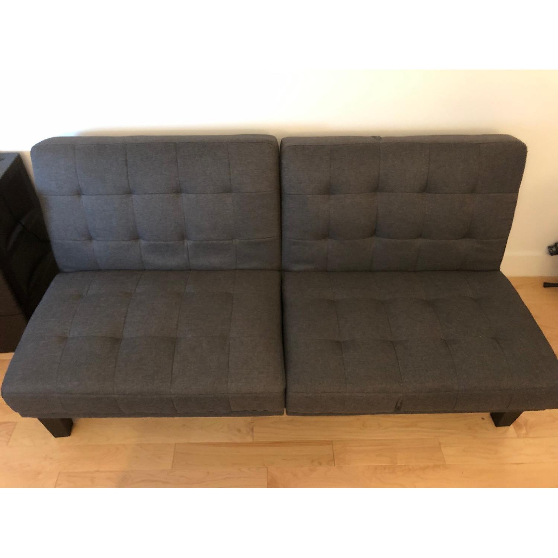 Wade Logan Haysi Futon Lounger Convertible Sofa - image-1