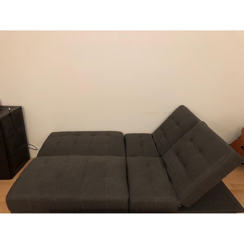 Wade Logan Haysi Futon Lounger Convertible Sofa - image-2