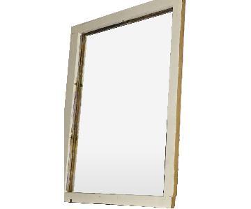 Shabby Farmhouse Upcycled Window Frame Mirror
