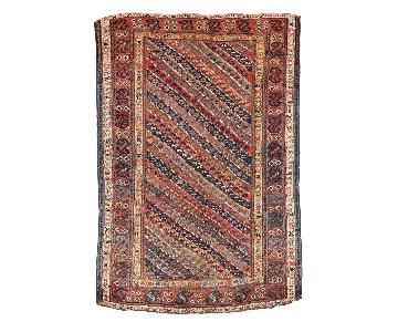 Handmade Antique Persian Kurdish Rug