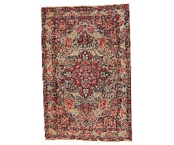 Handmade Antique Persian Kerman Lavar Rug