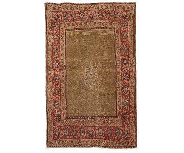 Antique Handmade Persian Tabriz Rug