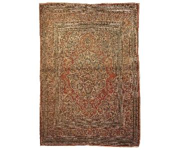 Antique Handmade Persian Tabriz Rug