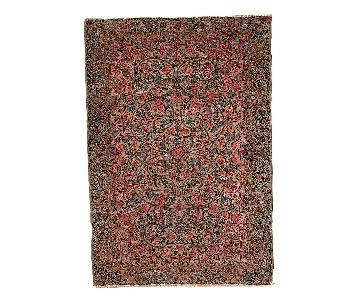 Antique Handmade Persian Kerman Rug