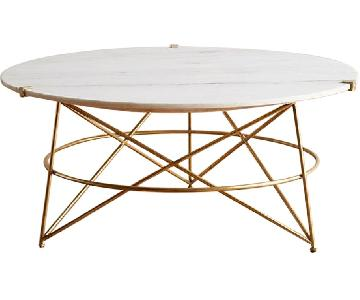 Anthropologie Round Marble Coffee Table