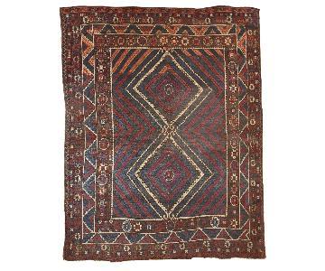 Antique Handmade Turkish Collectible Bergama Rug