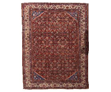 Antique Handmade Persian Mahal Rug