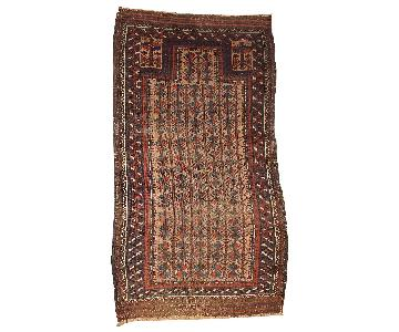 Antique Handmade Collectible Afghan Prayer Baluch Rug