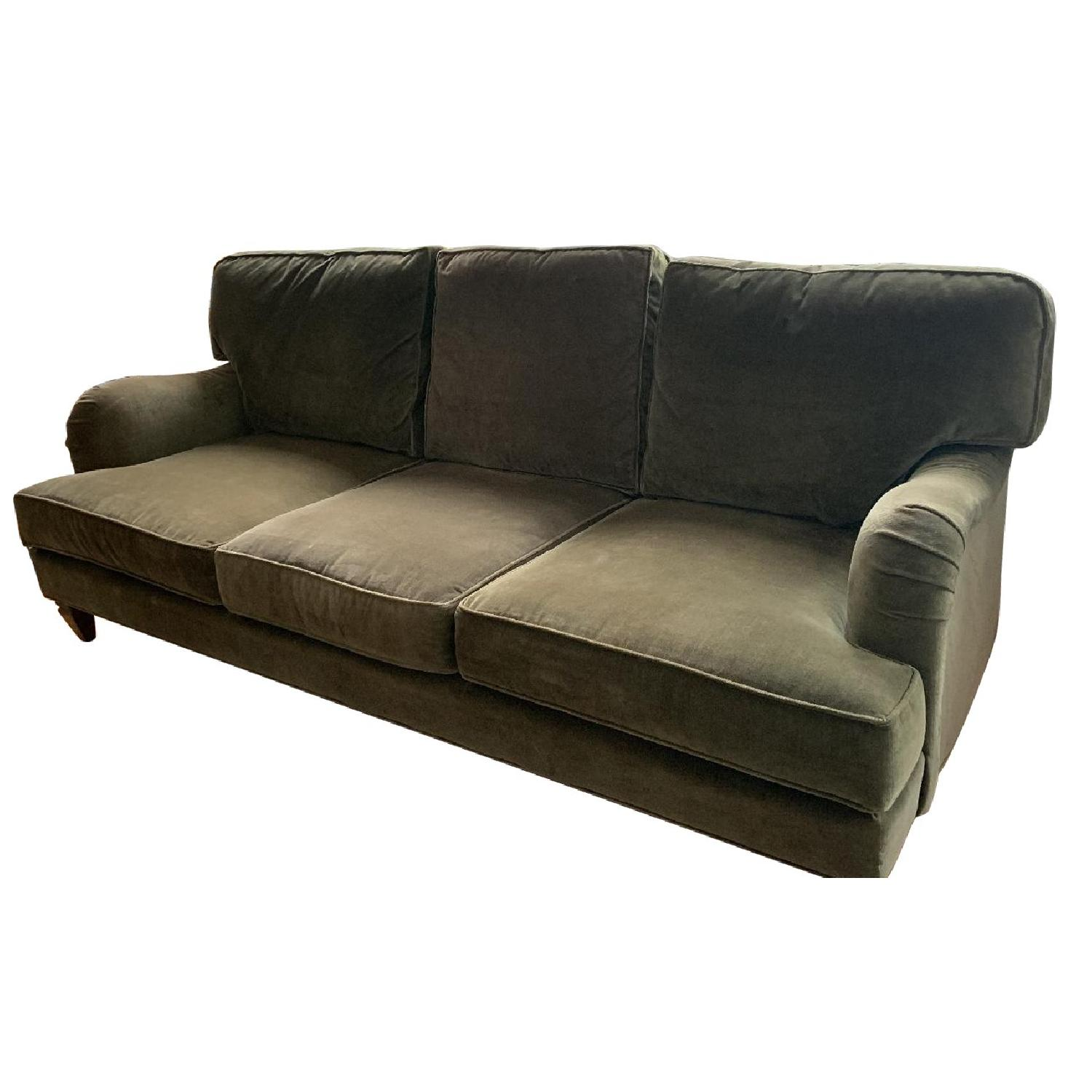 Cococo Home English Arm Green Jade Velvet Sofa