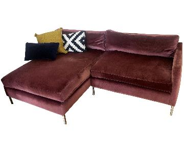 ABC Carpet and Home Cobble Hill 2 Piece Sectional Sofa