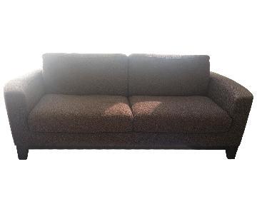 Natuzzi Brown Fabric Sofa