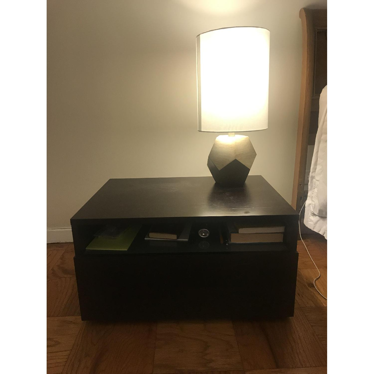 Design Within Reach Bedside Table w/ Storage Drawer - image-1