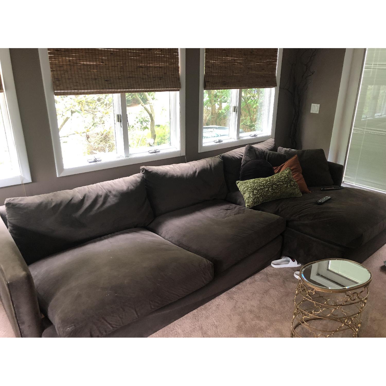 Crate & Barrel Lounge II Sectional Sofa - image-1
