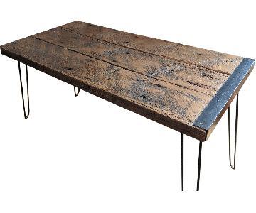 Industrial Style Desk w/ Reclaimed Wood & Hairpin Legs