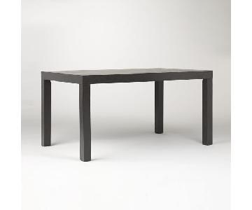 West Elm Dark Wood Parsons Dining Table