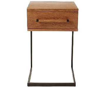 West Elm C-Base Nightstand/Side Table in Teak