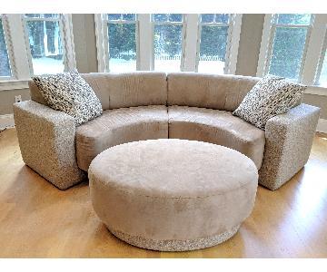 Nicole Miller MetroSectional Sofa & Ottoman
