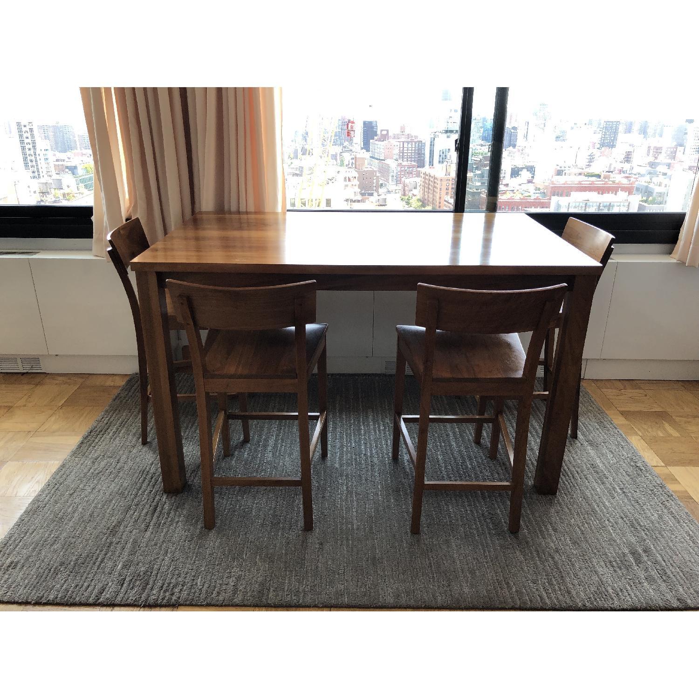 Room & Board Andover Walnut Table w/ 4 Stools - image-1