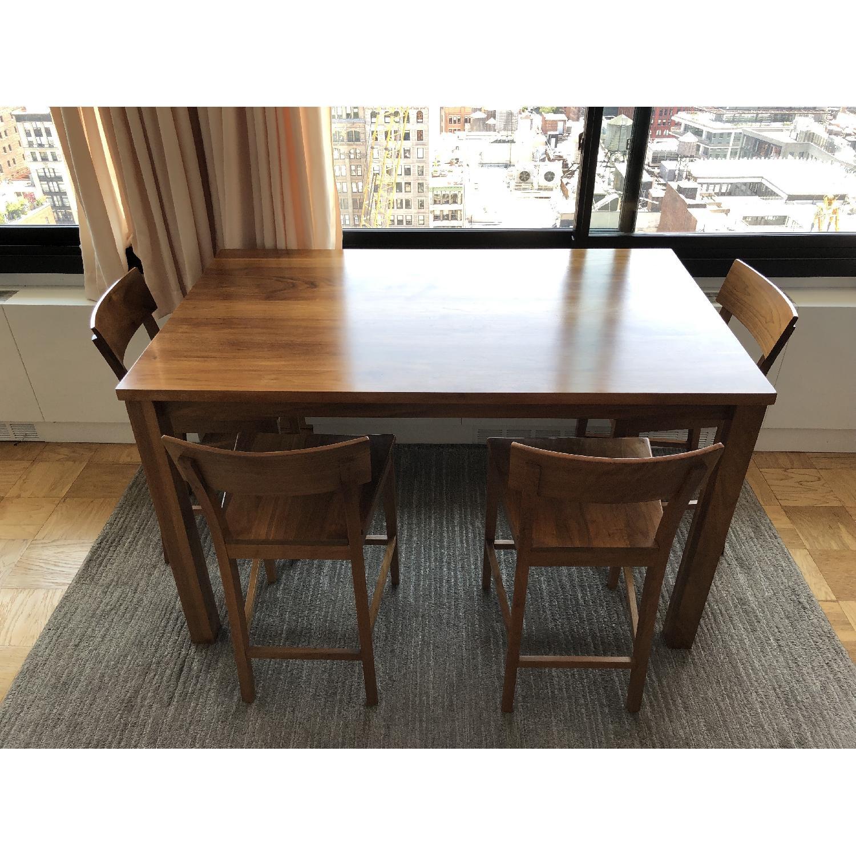 Room & Board Andover Walnut Table w/ 4 Stools - image-2