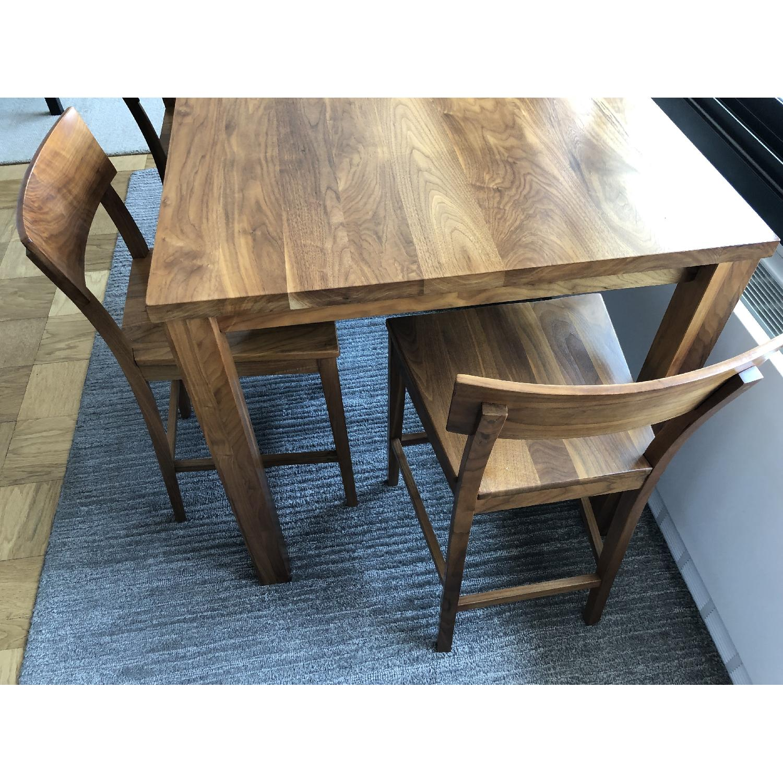 Room & Board Andover Walnut Table w/ 4 Stools - image-3