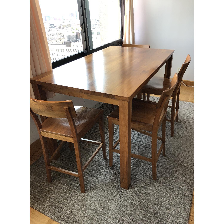 Room & Board Andover Walnut Table w/ 4 Stools - image-4