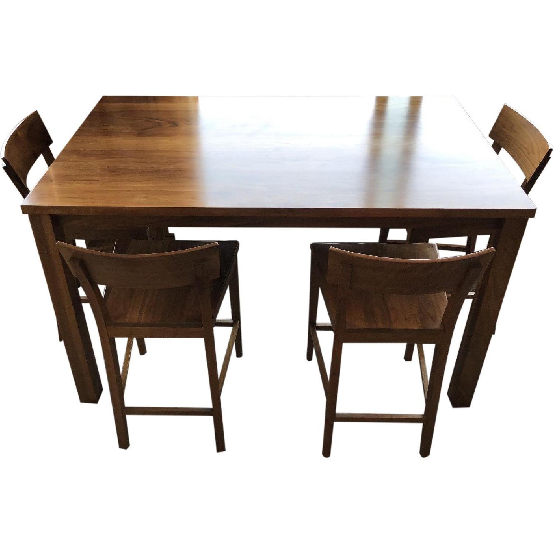 Room & Board Andover Walnut Table w/ 4 Stools - image-0