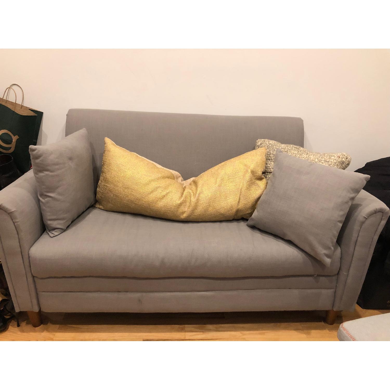 Ikea Light Grey Loveseat - image-2