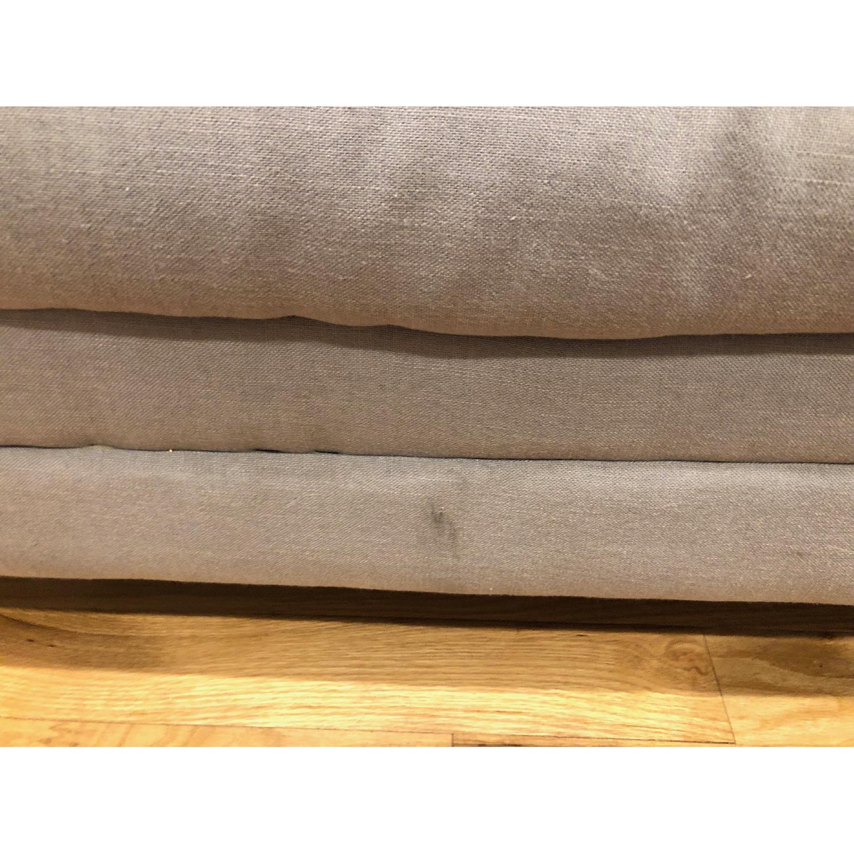 Ikea Light Grey Loveseat - image-3