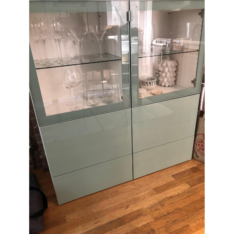 Ikea Besta Storage Combination w/ Glass Doors - image-1