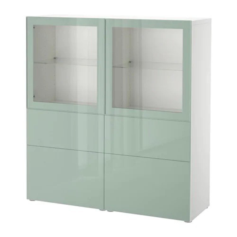Ikea Besta Storage Combination w/ Glass Doors - image-0