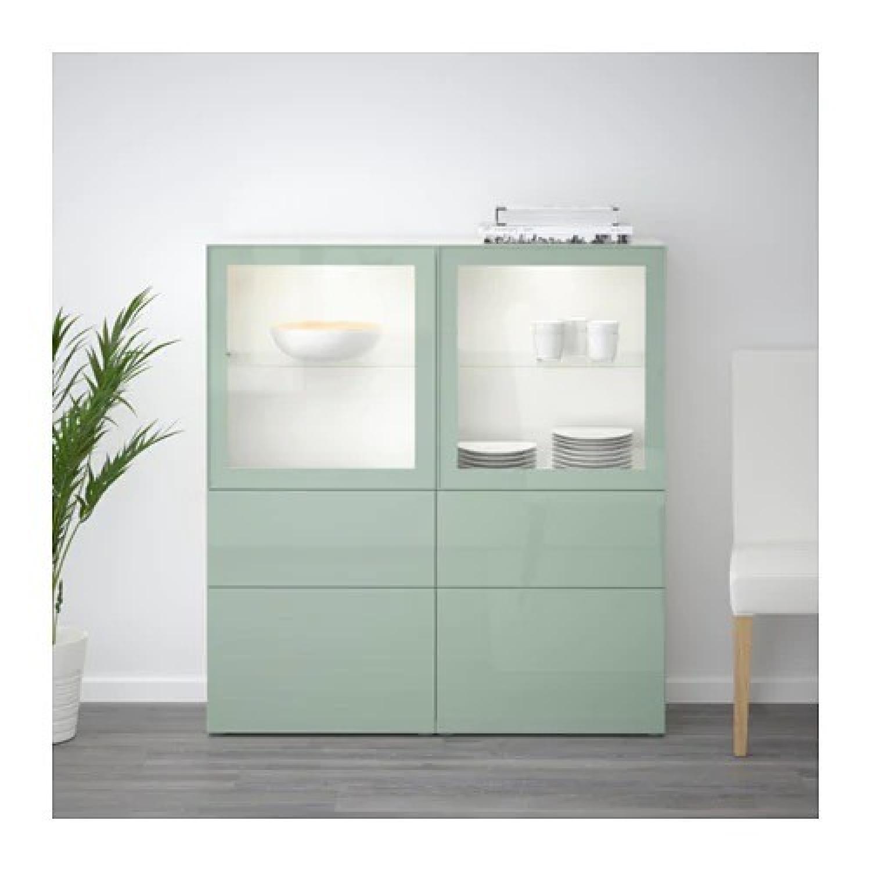 Ikea Besta Storage Combination w/ Glass Doors - image-2