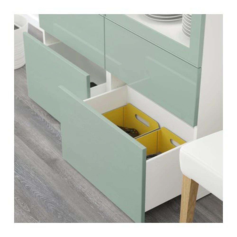 Ikea Besta Storage Combination w/ Glass Doors - image-3