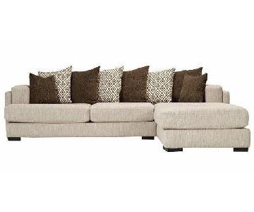 Raymour & Flanigan Urbanity 2-Piece Sectional Sofa