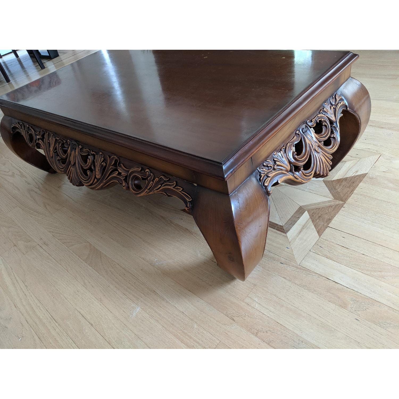 Custom Made Hand Carved Coffee Table - image-1