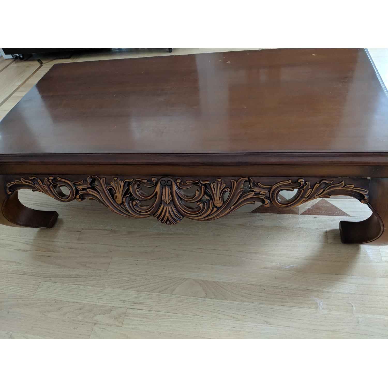 Custom Made Hand Carved Coffee Table - image-3