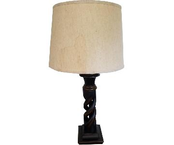 Black Wood Base Table Lamp