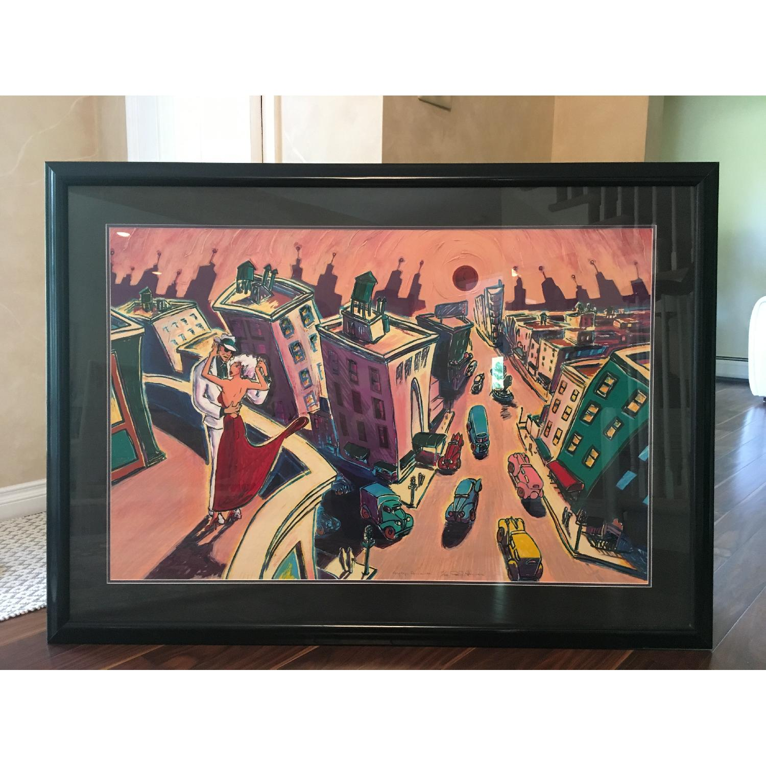 RJ Hohimer Rooftop Romance Signed Painting 135 of 300 - image-1
