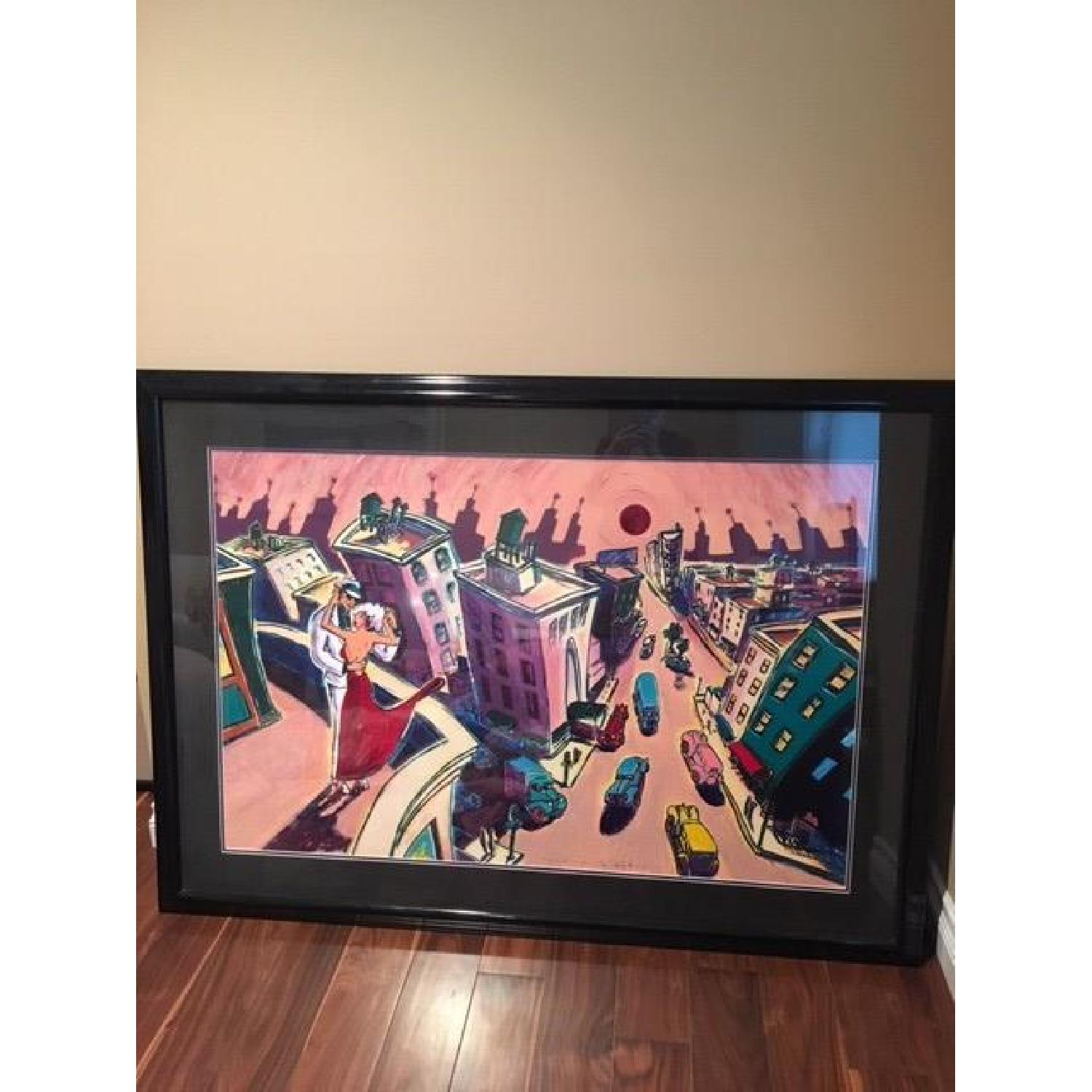 RJ Hohimer Rooftop Romance Signed Painting 135 of 300 - image-2