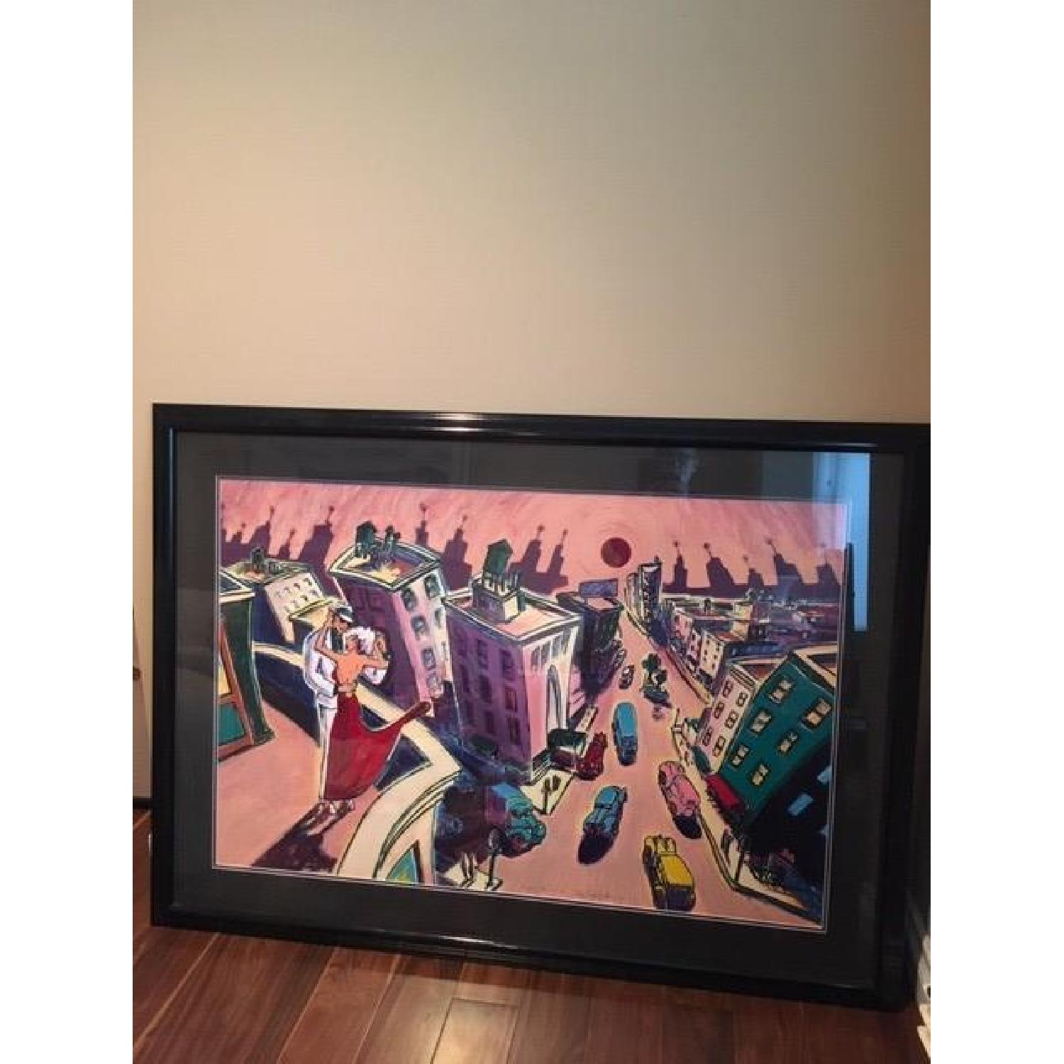 RJ Hohimer Rooftop Romance Signed Painting 135 of 300 - image-3