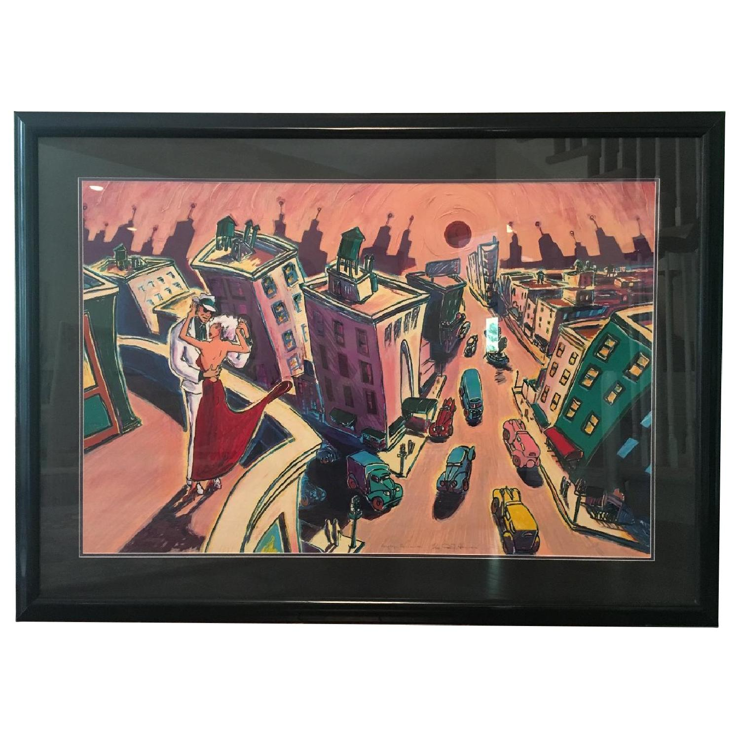 RJ Hohimer Rooftop Romance Signed Painting 135 of 300 - image-0