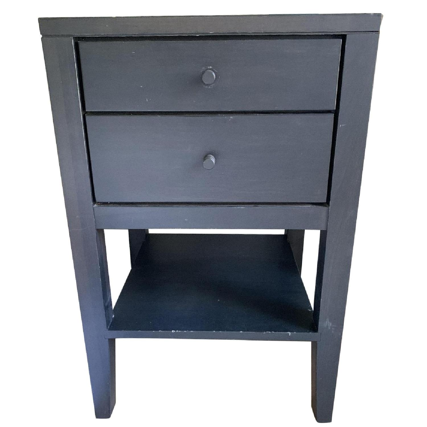 Room & Board Dark Brown/Black/ Grey Tall Nightstands
