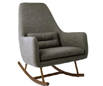 CB2 SAIC Quantam Rocking Chair in Charcoal Grey