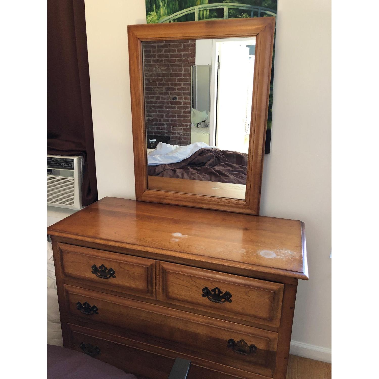 Wood Dresser w/ Mirror - image-1