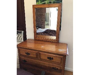 Wood Dresser w/ Mirror
