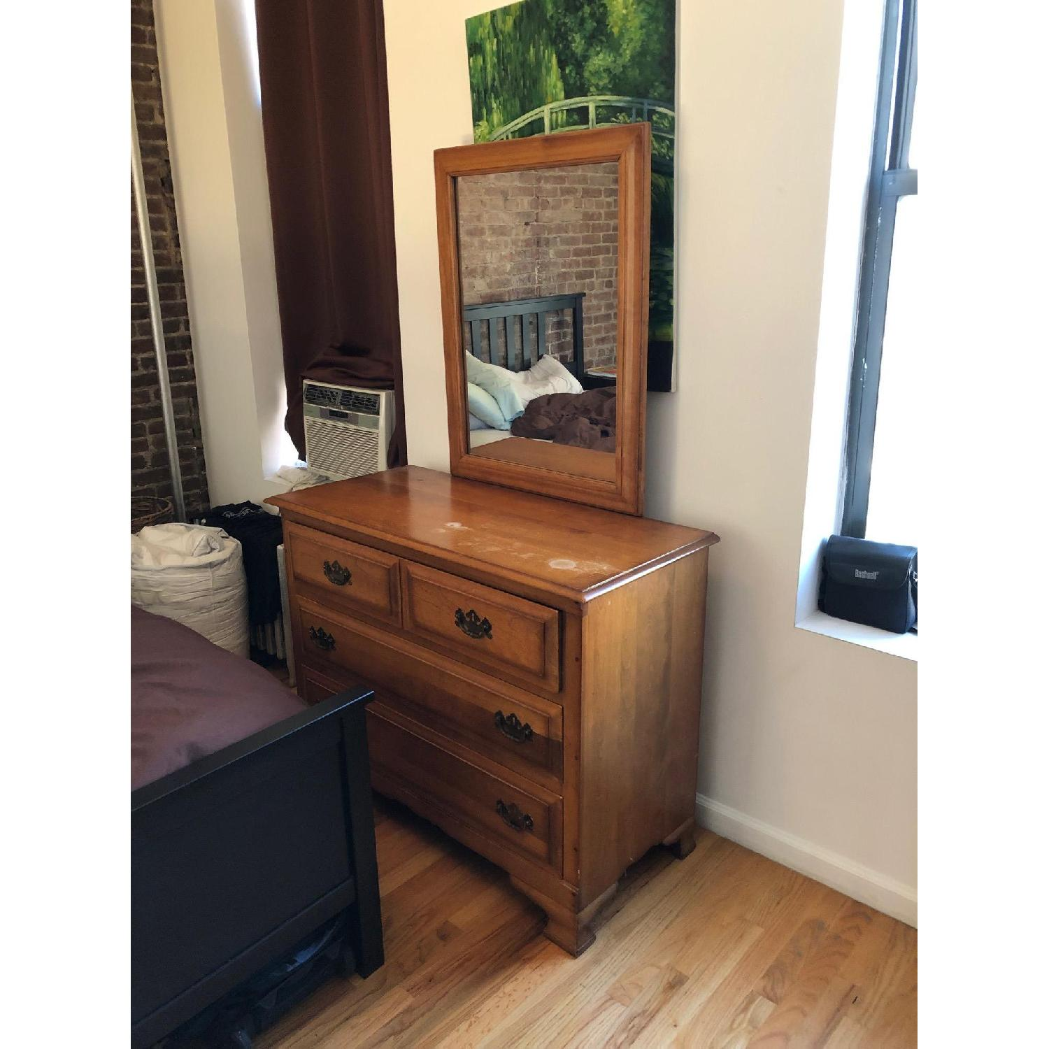 Wood Dresser w/ Mirror - image-2
